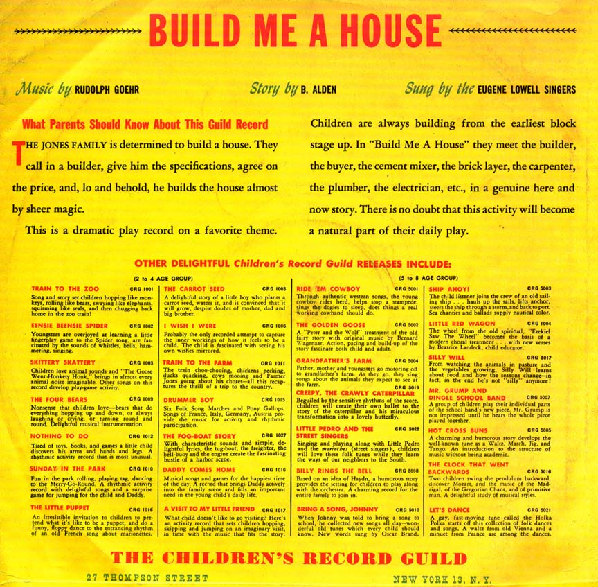 Build me a house for Order of building a house